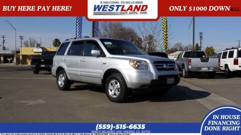 2008 Honda Pilot for sale at Westland Auto Sales on 7th in Fresno CA
