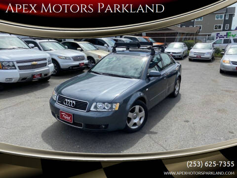 2002 Audi A4 for sale at Apex Motors Parkland in Tacoma WA