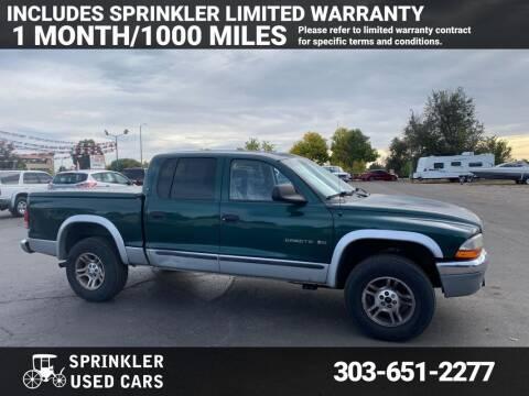 2001 Dodge Dakota for sale at Sprinkler Used Cars in Longmont CO