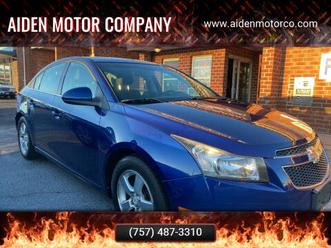 2012 Chevrolet Cruze for sale at Aiden Motor Company in Portsmouth VA
