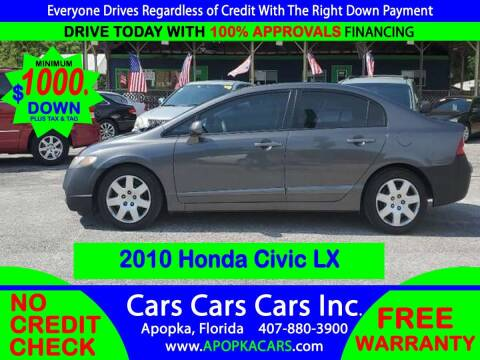 2010 Honda Civic for sale at CARS CARS CARS INC in Apopka FL