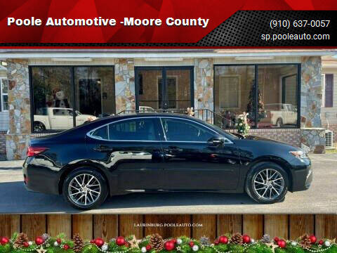 2018 Lexus ES 350 for sale at Poole Automotive in Laurinburg NC