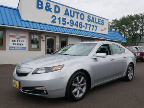 2012 Acura TL for sale at B & D Auto Sales Inc. in Fairless Hills PA