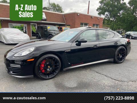 2014 Porsche Panamera for sale at A-Z Auto Sales in Newport News VA
