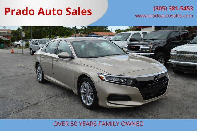 2018 Honda Accord for sale at Prado Auto Sales in Miami FL