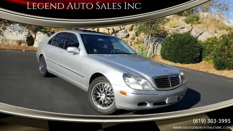 2001 Mercedes-Benz S-Class for sale at Legend Auto Sales Inc in Lemon Grove CA