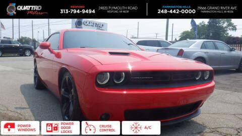 2015 Dodge Challenger for sale at Quattro Motors 2 - 1 in Redford MI
