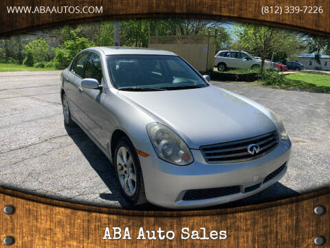 2005 Infiniti G35 for sale at ABA Auto Sales in Bloomington IN