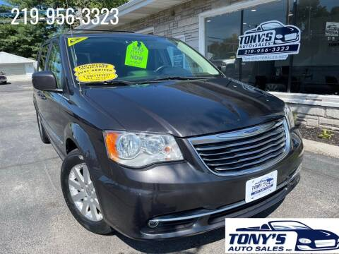 2016 Chrysler Town and Country for sale at Tonys Auto Sales Inc in Wheatfield IN