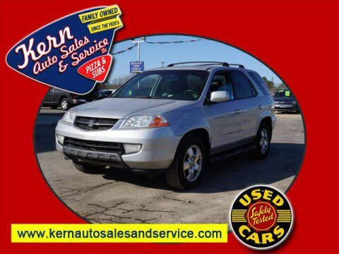 2003 Acura MDX for sale at Kern Auto Sales & Service LLC in Chelsea MI