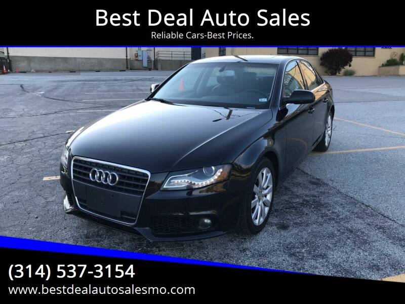 2010 Audi A4 for sale at Best Deal Auto Sales in Saint Charles MO