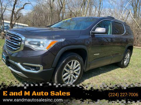 2018 GMC Acadia for sale at E and M Auto Sales in Elgin IL