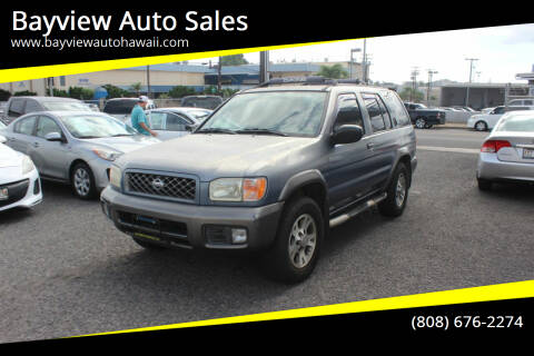 2001 Nissan Pathfinder for sale at Bayview Auto Sales in Waipahu HI