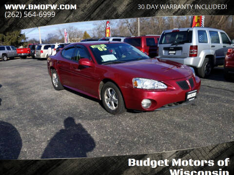 2005 Pontiac Grand Prix for sale at Budget Motors of Wisconsin in Racine WI
