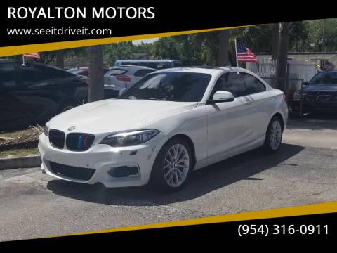 2016 BMW 2 Series for sale at ROYALTON MOTORS in Plantation FL