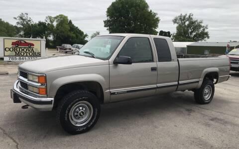 1998 Chevrolet C/K 2500 Series for sale at Cordova Motors in Lawrence KS