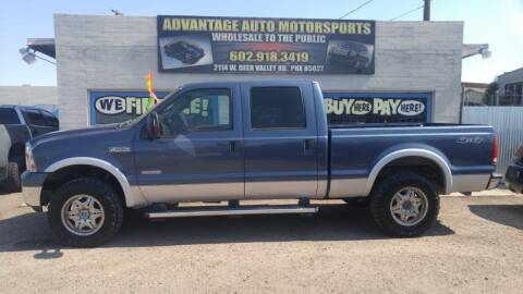 2006 Ford F-250 Super Duty for sale at Advantage Motorsports Plus in Phoenix AZ
