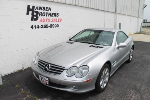2003 Mercedes-Benz SL-Class for sale at HANSEN BROTHERS AUTO SALES in Milwaukee WI