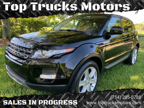 2014 Land Rover Range Rover Evoque for sale at Top Trucks Motors in Pompano Beach FL
