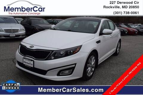 2015 Kia Optima for sale at MemberCar in Rockville MD