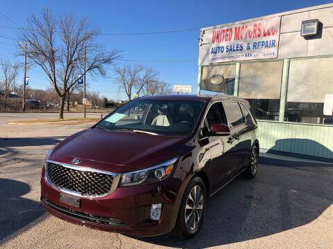 2016 Kia Sedona for sale at United Motors LLC in Saint Francis WI