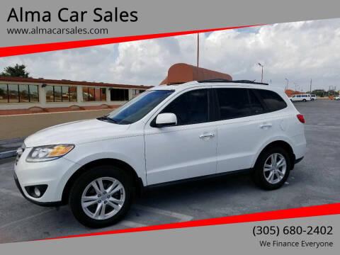 2012 Hyundai Santa Fe for sale at Alma Car Sales in Miami FL