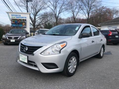 2015 Nissan Versa for sale at Sports & Imports in Pasadena MD