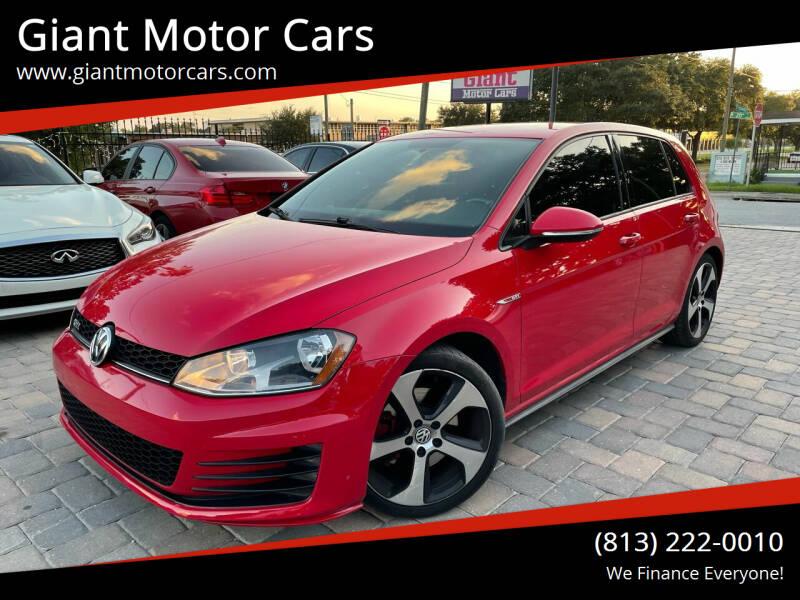 2015 Volkswagen Golf GTI for sale at Giant Motor Cars in Tampa FL