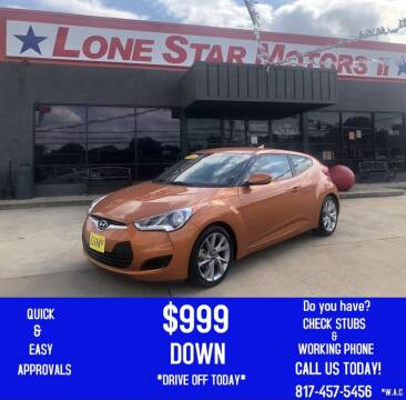 2016 Hyundai Veloster for sale at LONE STAR MOTORS II in Fort Worth TX