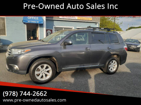 2012 Toyota Highlander for sale at Pre-Owned Auto Sales Inc in Salem MA