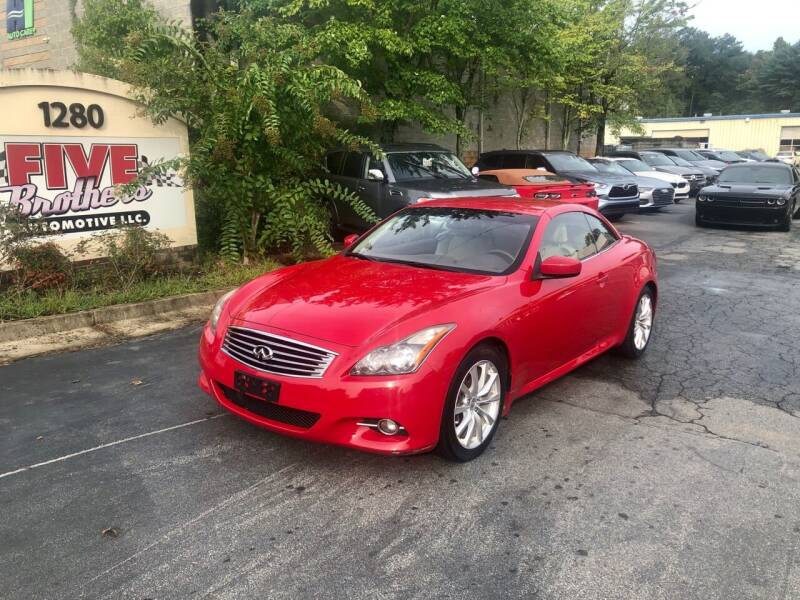 2011 Infiniti G37 Convertible for sale at Five Brothers Auto Sales in Roswell GA