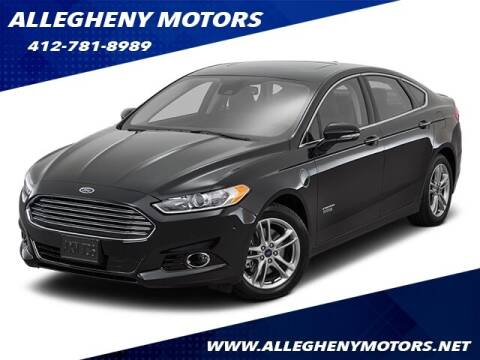 2016 Ford Fusion Energi for sale at Allegheny Motors in Pittsburgh PA