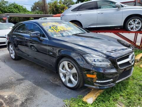 2012 Mercedes-Benz CLS for sale at America Auto Wholesale Inc in Miami FL