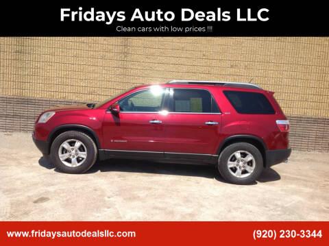 2008 GMC Acadia for sale at Fridays Auto Deals LLC in Oshkosh WI