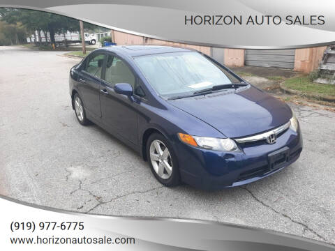 2007 Honda Civic for sale at Horizon Auto Sales in Raleigh NC