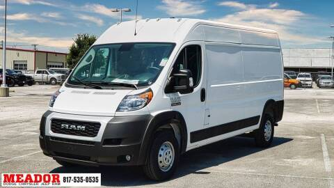 2021 RAM ProMaster Cargo for sale at Meador Dodge Chrysler Jeep RAM in Fort Worth TX
