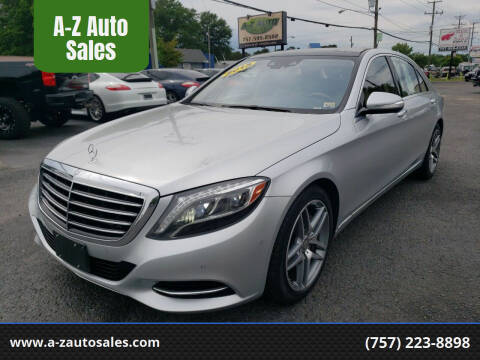 2015 Mercedes-Benz S-Class for sale at A-Z Auto Sales in Newport News VA