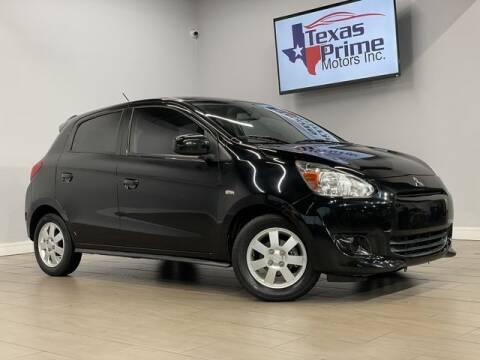 2015 Mitsubishi Mirage for sale at Texas Prime Motors in Houston TX