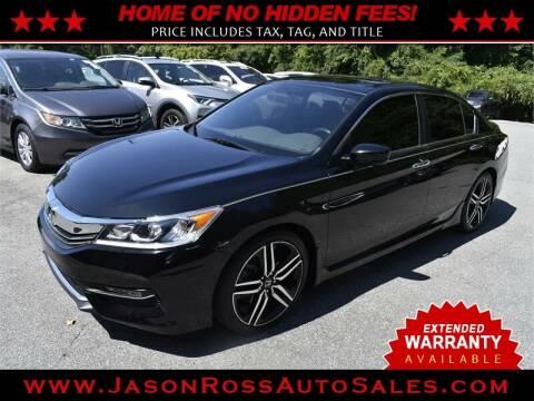 2017 Honda Accord for sale at Jason Ross Auto Sales in Burlington NC