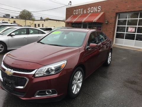 2015 Chevrolet Malibu for sale at Cote & Sons Automotive Ctr in Lawrence MA