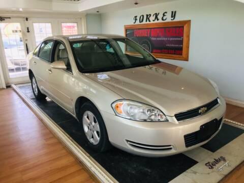 2008 Chevrolet Impala for sale at Forkey Auto & Trailer Sales in La Fargeville NY