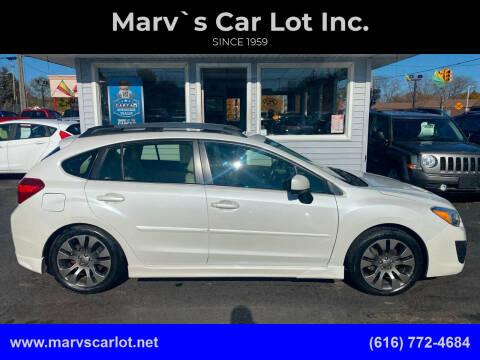 2012 Subaru Impreza for sale at Marv`s Car Lot Inc. in Zeeland MI