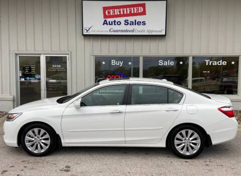 2013 Honda Accord for sale at Certified Auto Sales in Des Moines IA