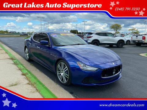 2015 Maserati Ghibli for sale at Great Lakes Auto Superstore in Waterford Township MI
