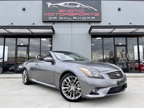 2011 Infiniti G37 Convertible for sale at Exotic Motorsports of Oklahoma in Edmond OK