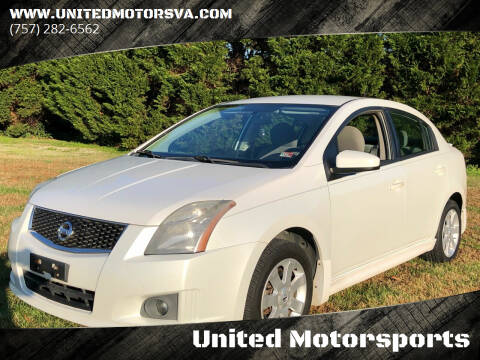 2010 Nissan Sentra for sale at United Motorsports in Virginia Beach VA