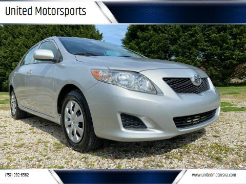 2009 Toyota Corolla for sale at United Motorsports in Virginia Beach VA