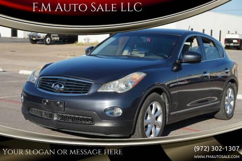 2010 Infiniti EX35 for sale at F.M Auto Sale LLC in Dallas TX