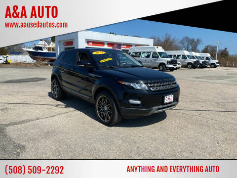 2013 Land Rover Range Rover Evoque for sale at A&A AUTO in Fairhaven MA