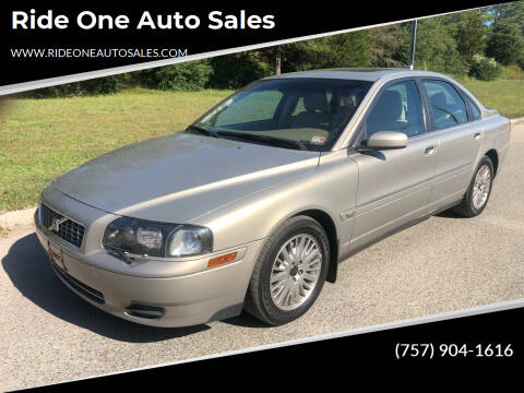 2004 Volvo S80 for sale at Ride One Auto Sales in Norfolk VA